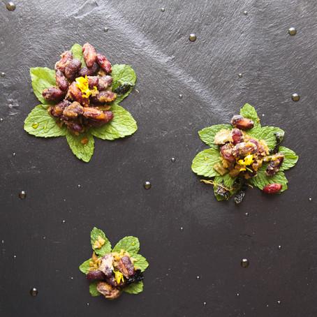 Recipe for the crispy red beans with pickled vegetables (腌菜酥红豆 - yāncài sū hóngdòu)