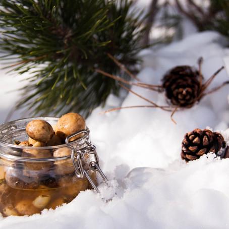 Recipe for the lemon & thyme pickled mushrooms