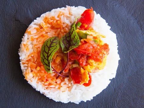 Mi obsesión con los platos chinos nr.1: Tomates salteados con huevos - 番茄炒蛋 fānqié chǎo dàn