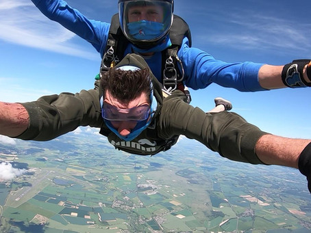 Skydives and wild flowers