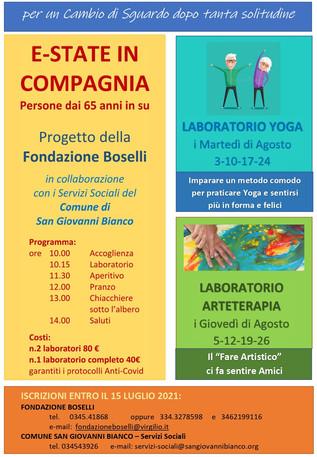 Agosto: Laboratorio di Yoga per Anziani con la Fondazione Boselli
