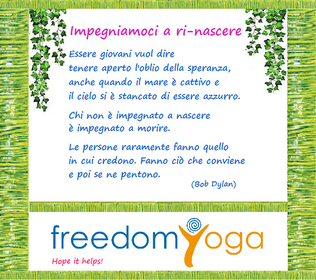 Serie Hope it helps! - Impegniamoci a ri-nascere