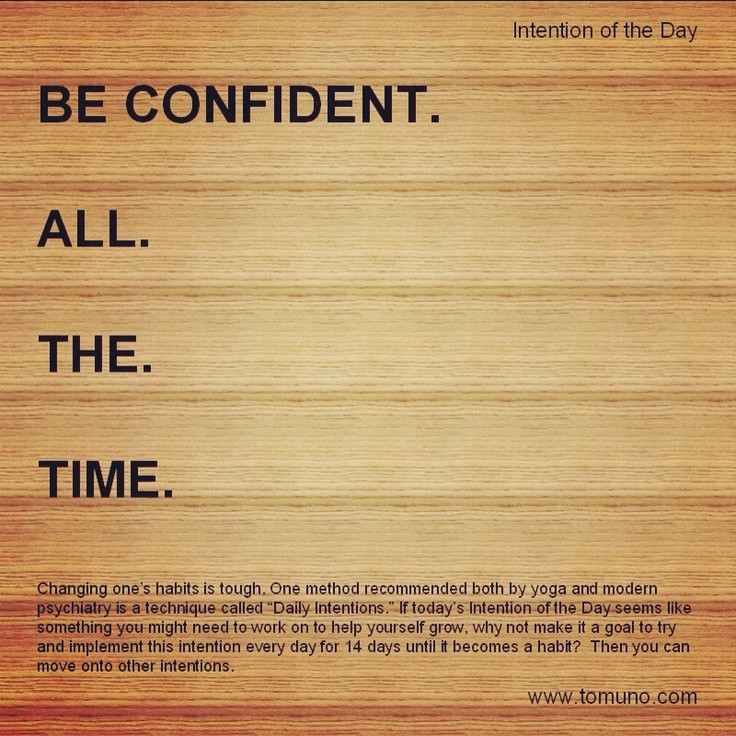 Intention of the day