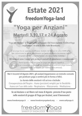 """Estate 2021 a freedomYoga-land  """"Yoga per Anziani"""""""