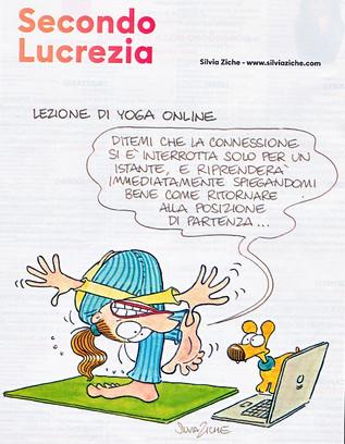 """Yoga on line ... comunque in caso di bisogno """"sciogliete la posizione""""!  Namaste"""