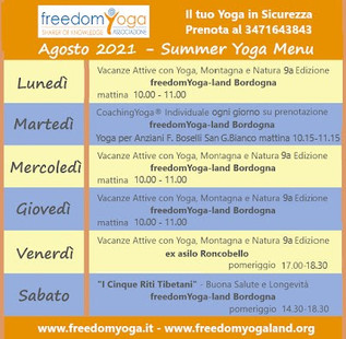 """Summer Yoga a freedomYoga-land  - """"... when Yoga in on your side"""""""
