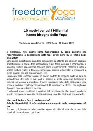 Focus: 10 motivi per cui i Millennial hanno bisogno dello Yoga (…)