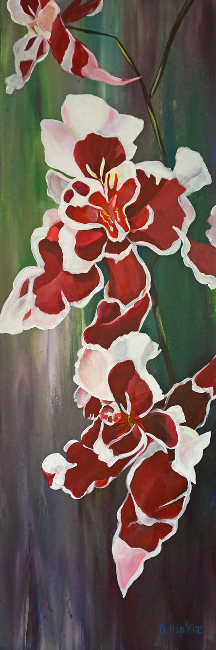 Orchid Falls I, Acrylic on Canvas, 12 in. x 36 in., Jury.jpg