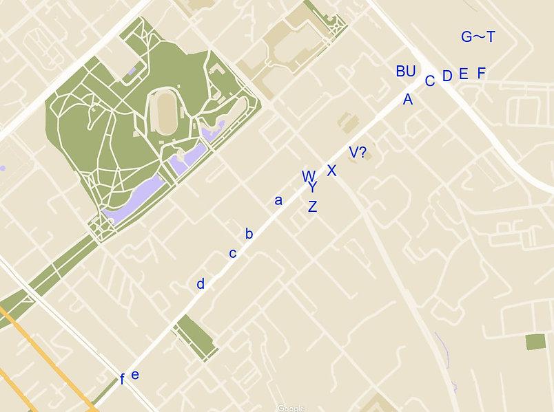 ハバロフスク 街歩きルート3マップ