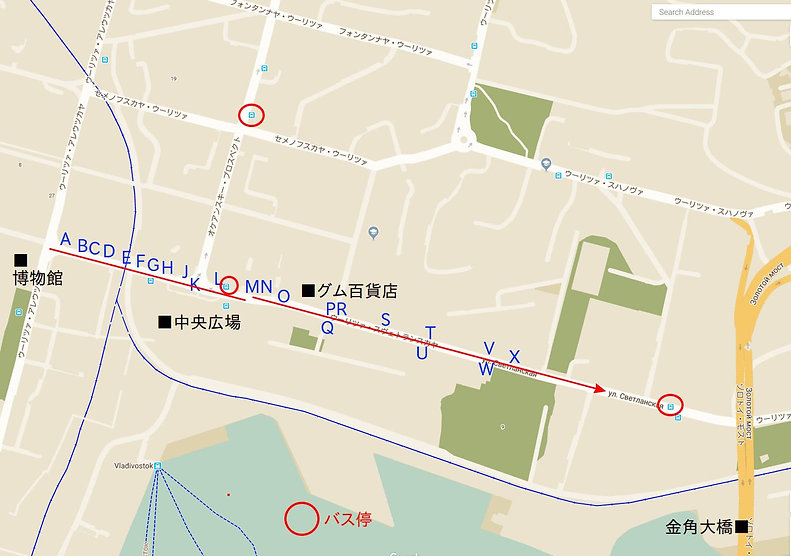 ウラジオストク 街歩きルート③マップ