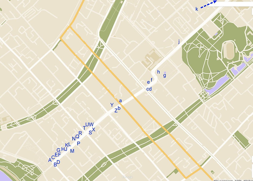 ハバロフスク 街歩きルート1マップ