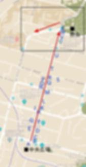 ウラジオストク 街歩きルート④−1マップ