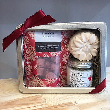 Raspberry Salty Soap + Candle Gift Set