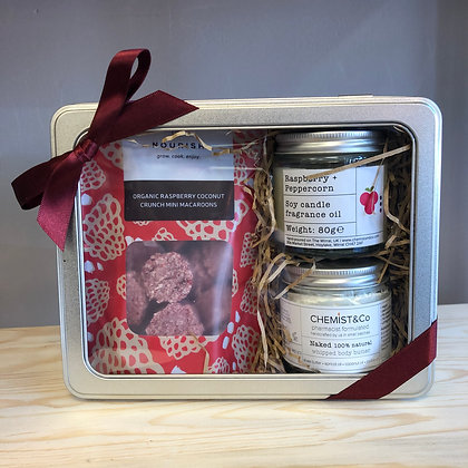 Raspberry Body Butter + Candle Gift Set