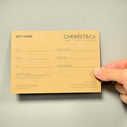 Gift Card | redeem in-store & online | £10, £20, £40, £60