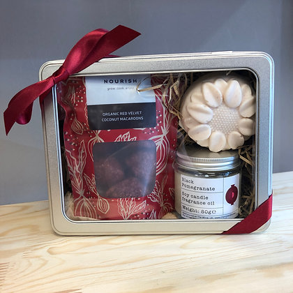 Black Pomegranate Salty Soap + Candle Gift Set