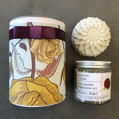 Flower Soap & Candle in a Tube Box