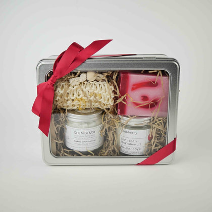 Gift Set 2. Body Butter + Soy Candle + Soap + Soap Bag