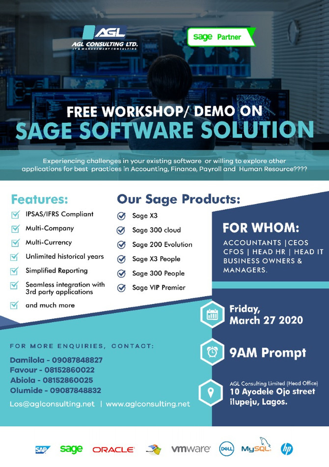FREE WORKSHOP AND DEMO ON SAGE SOFTWARE SOLUTIONS