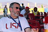 Coach Paul Soter at the 2004 Olympics