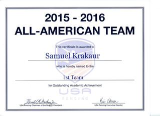 GGFC is #1 in All Academic Team Fencers!