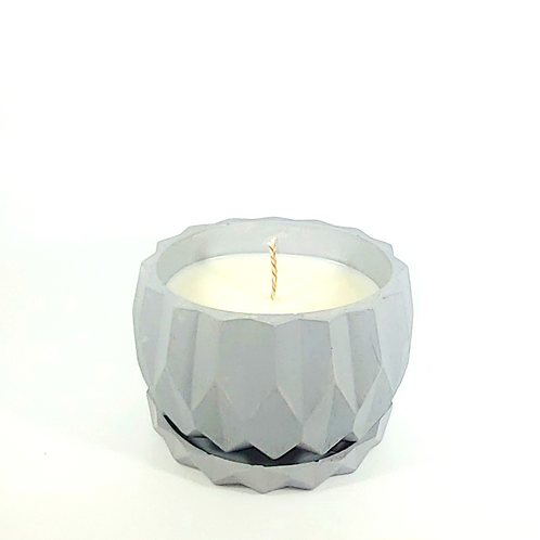 Crystal Cement Candle Holder