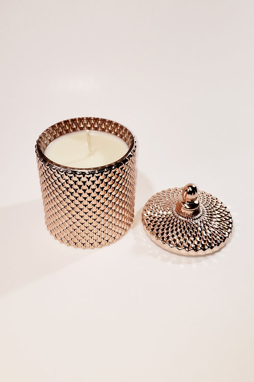 Cleo Rose Gold Glass Candle Holder