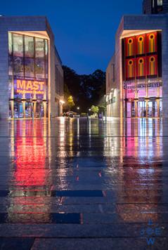 Mast Mayflower Studios and John Hansard Gallery at dusk