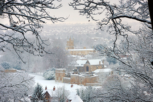 Wolvesey Palace under Snow, Winchester