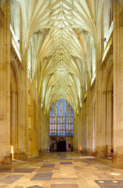 West Window & Empty Nave, Winchester Cathedral