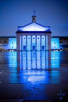 Southampton Guildhall lit blue to celebrate 73rd birthday of the NHS