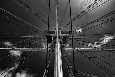 HMS Warrior mast and rigging, Portsmouth Historic Dockyard