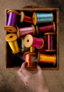 Whitchurch Silk Mill - hand & bobbins