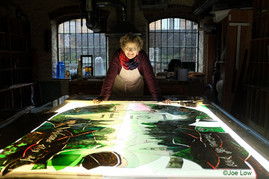 Sophie Hacker & her Florence Nightingale Stained Glass Window