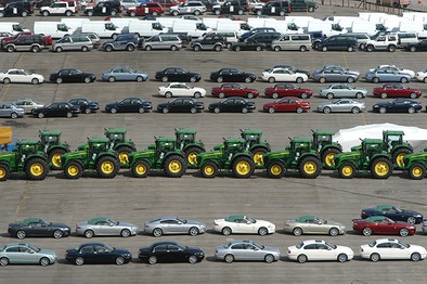 Tractors & Cars for Import/Export, Southampton Docks