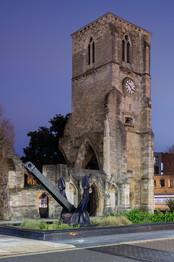 Merchant Navy Memorial, Holy Rood Church, Southampton (at night)