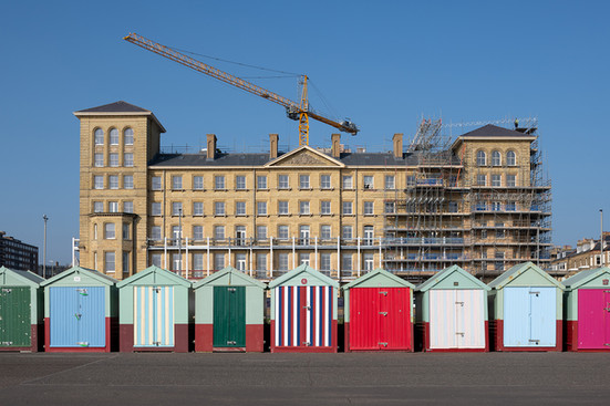 Kings House and Beach Huts, Brighton