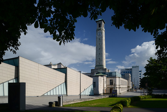 Sea City Museum & Southampton Civic Centre Clock Tower (Colour)