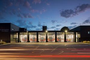 Basingstoke Fire Station - Dusk, (Hampshire County Architects)