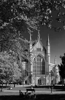 West End of Winchester Cathedral, Spring
