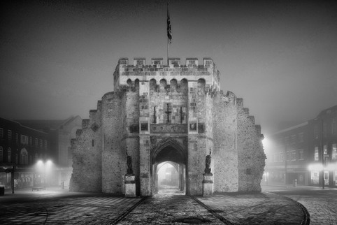 The Bargate in Fog