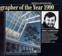 Article in Building Magazine Re: Architectectural Photographer of the Year 1990 (Highly Commended)