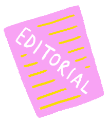 Editorial and marketting button