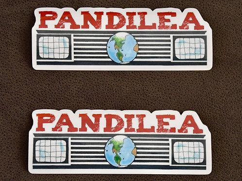 2x Pandilea Logo-Stickers