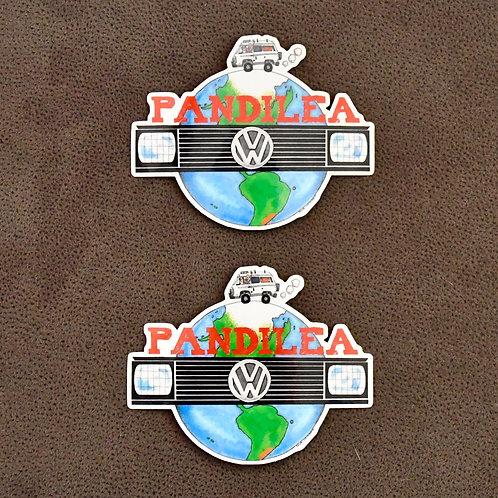2x Pandilea World-Stickers
