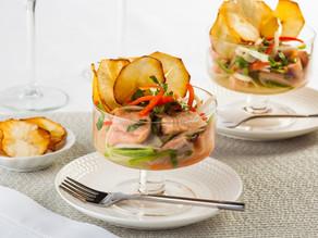 Ceviche de merluza y salmón