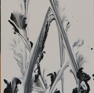 Abstract Black and White Flowers (1 of 2)