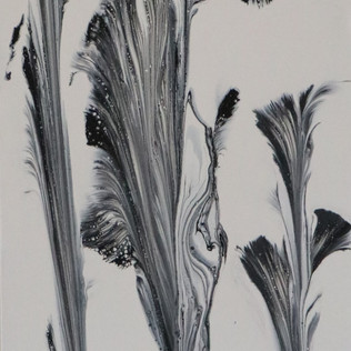 Abstract Black and White Flowers (2 of 2)