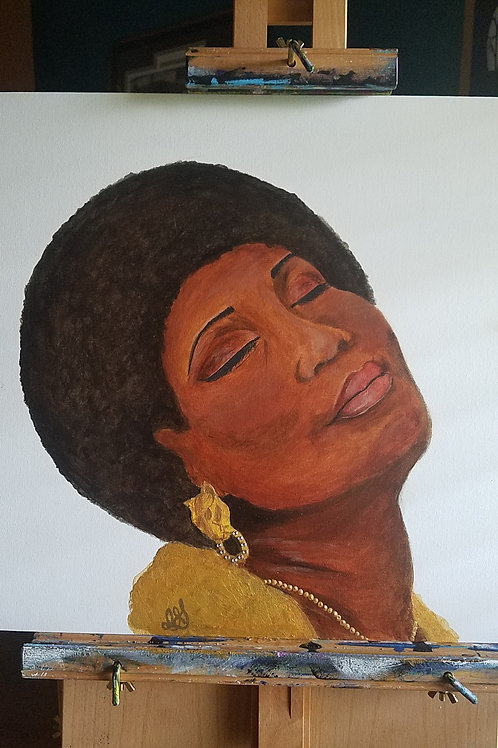 Aretha Franklin Tribute Painting (framed)
