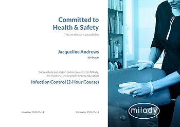 Milady Infection Control Certification
